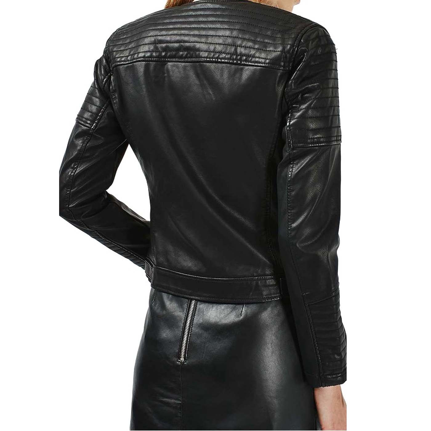 Leather motorcycle jackets for women fashion 5