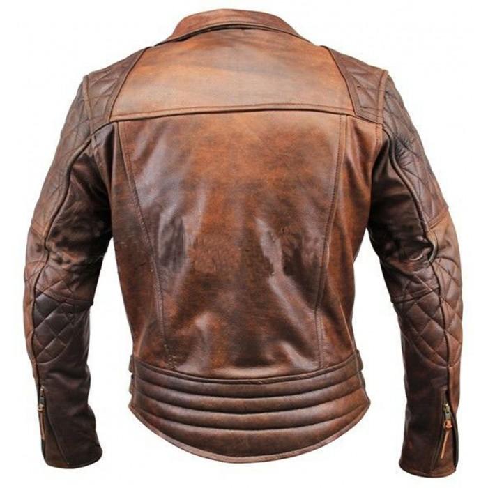 Biker Motorcycle Vintage Distressed Brown back-700×700