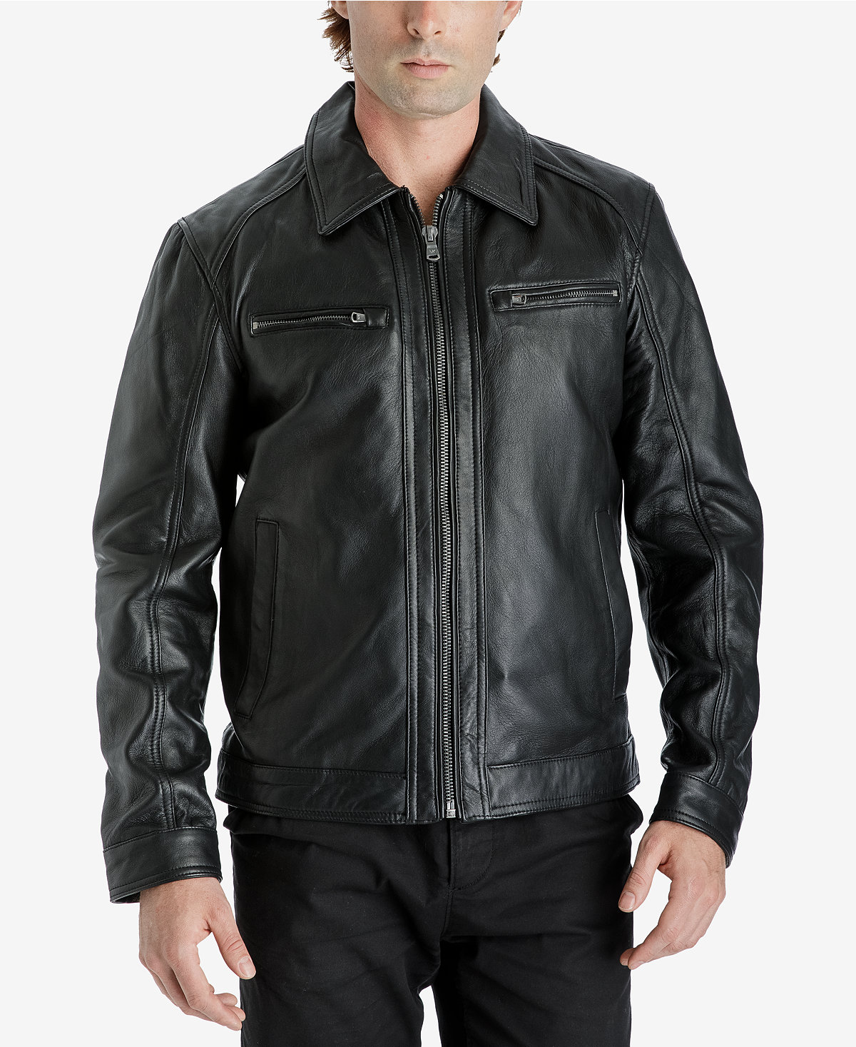 c9e659b16 Michael Kors Men's Leather Bomber Jacket