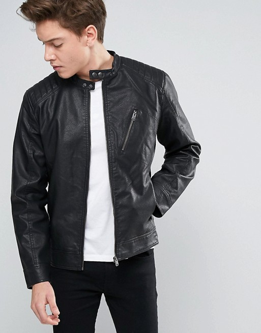 Atlanta Men Black Leather Motorcycle Jacket (1)