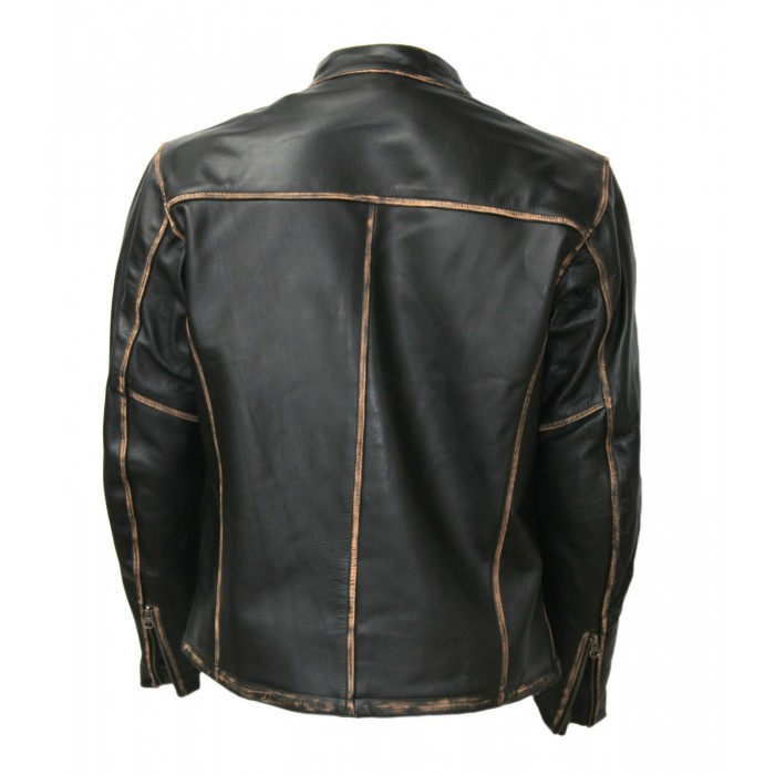 BIKER MOTORCYCLE FADED SEAMS VINTAGE LEATHER JACKETS FOR SALE 1