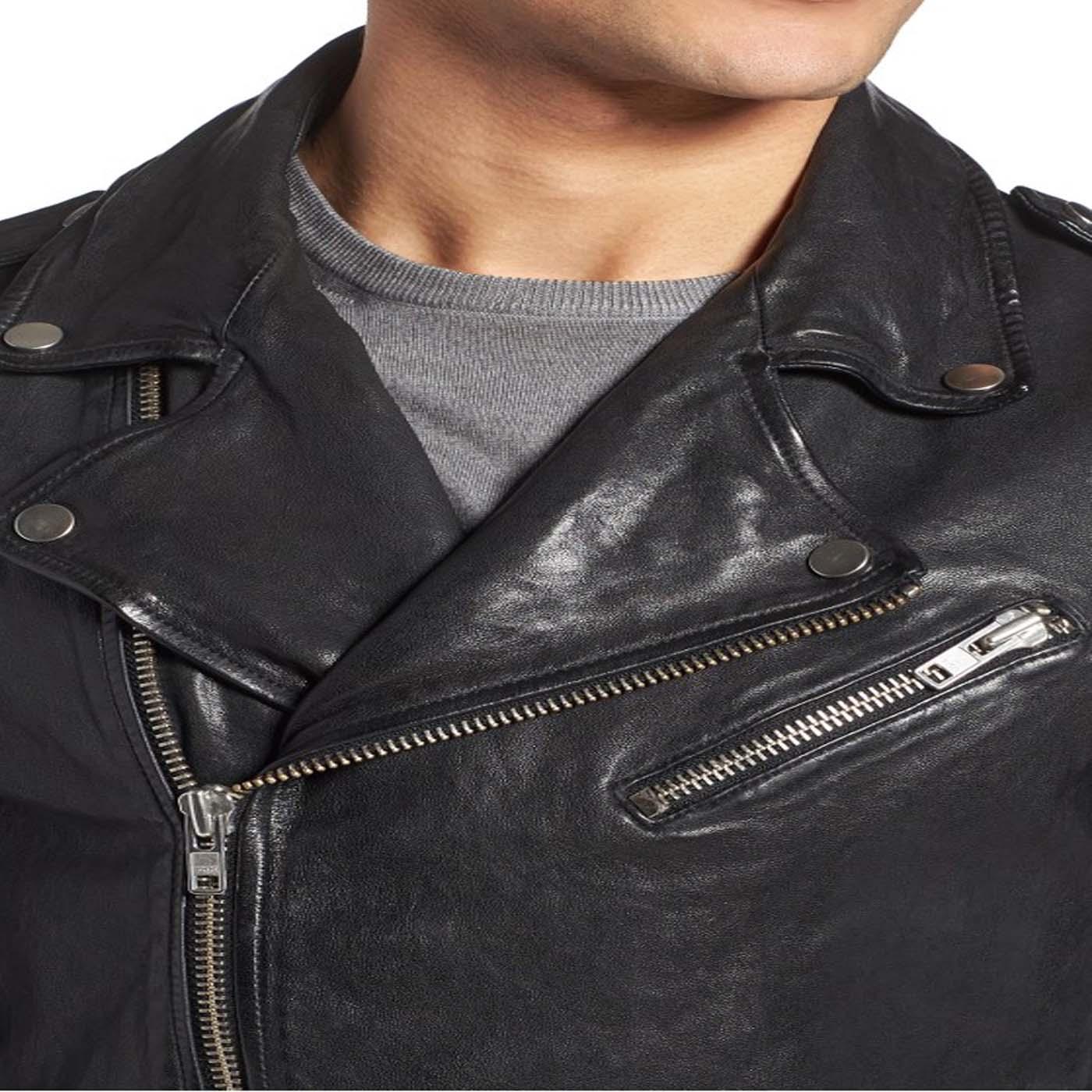 Leather Biker Jacket For Mens 1.