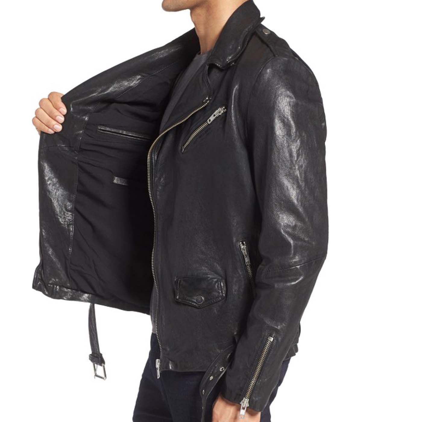 Leather Biker Jacket For Mens 2.