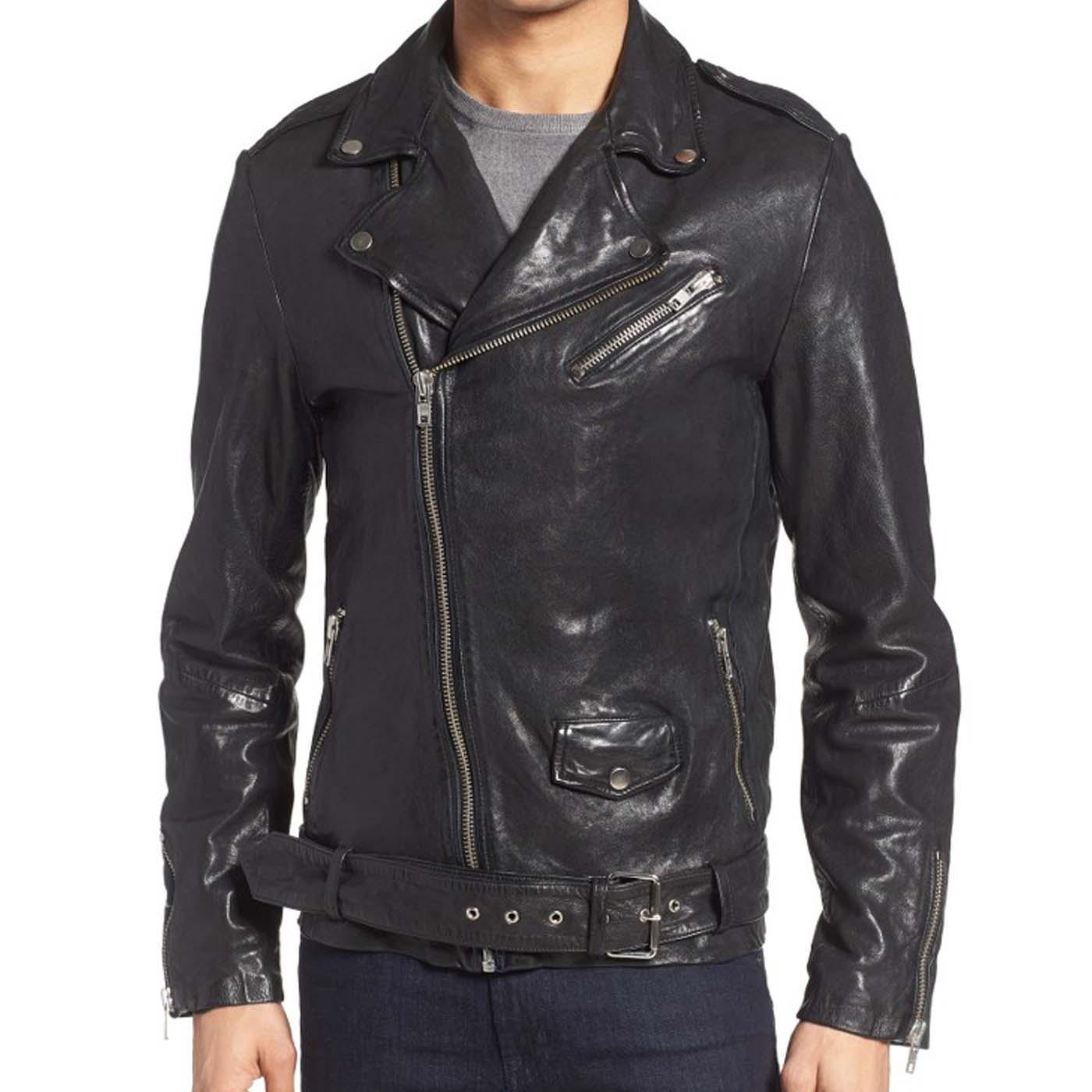 Leather Biker Jacket For Mens 4.