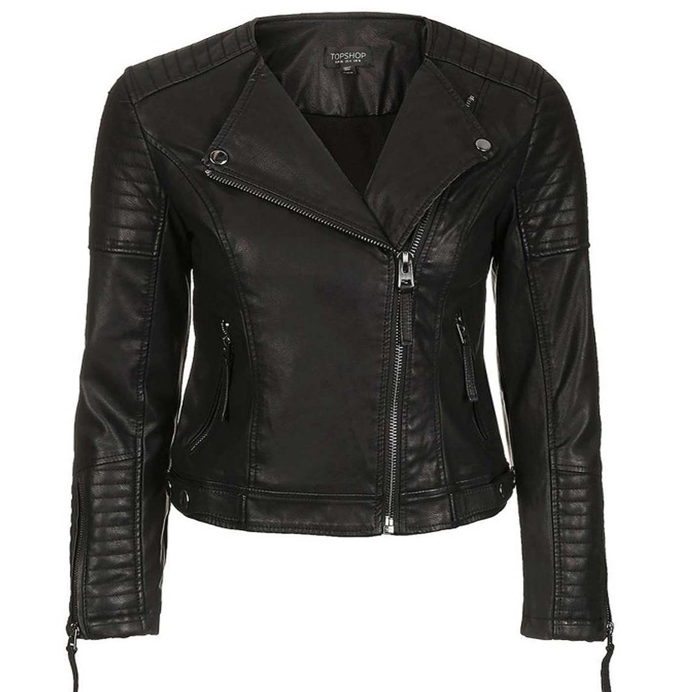 Black motorcycle leather jacket for womens motorcycle for Leather motor cycle jackets
