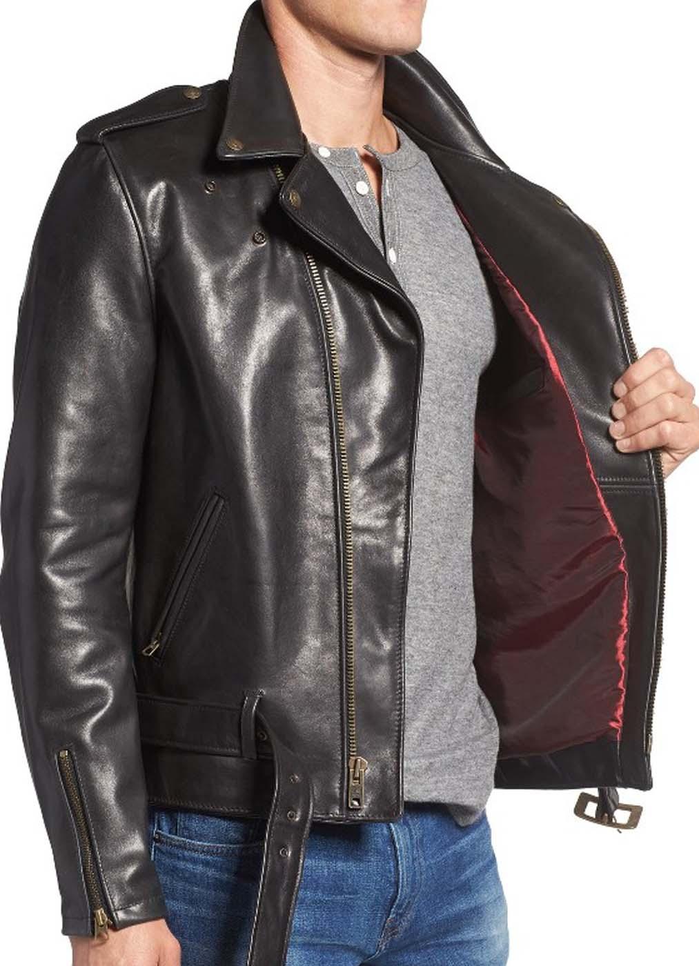 Leather Moto Jacket For Men 1.