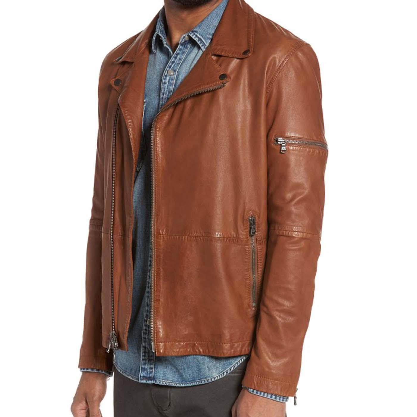Leather Moto Jacket..