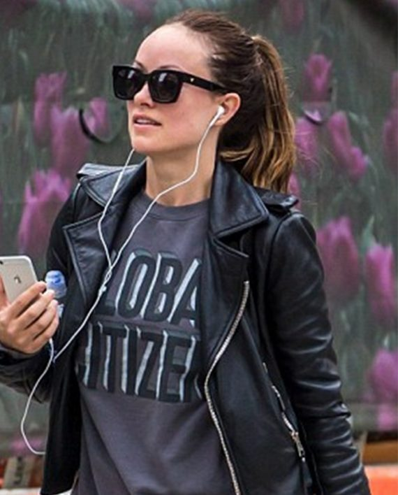 Olivia Wilde in Leather Jacket (4)