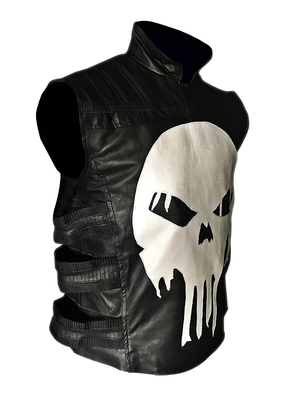 Thomas Jane Punisher Tactical Black Leather Vest 1