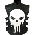 Thomas Jane Punisher Tactical Black Leather Vest
