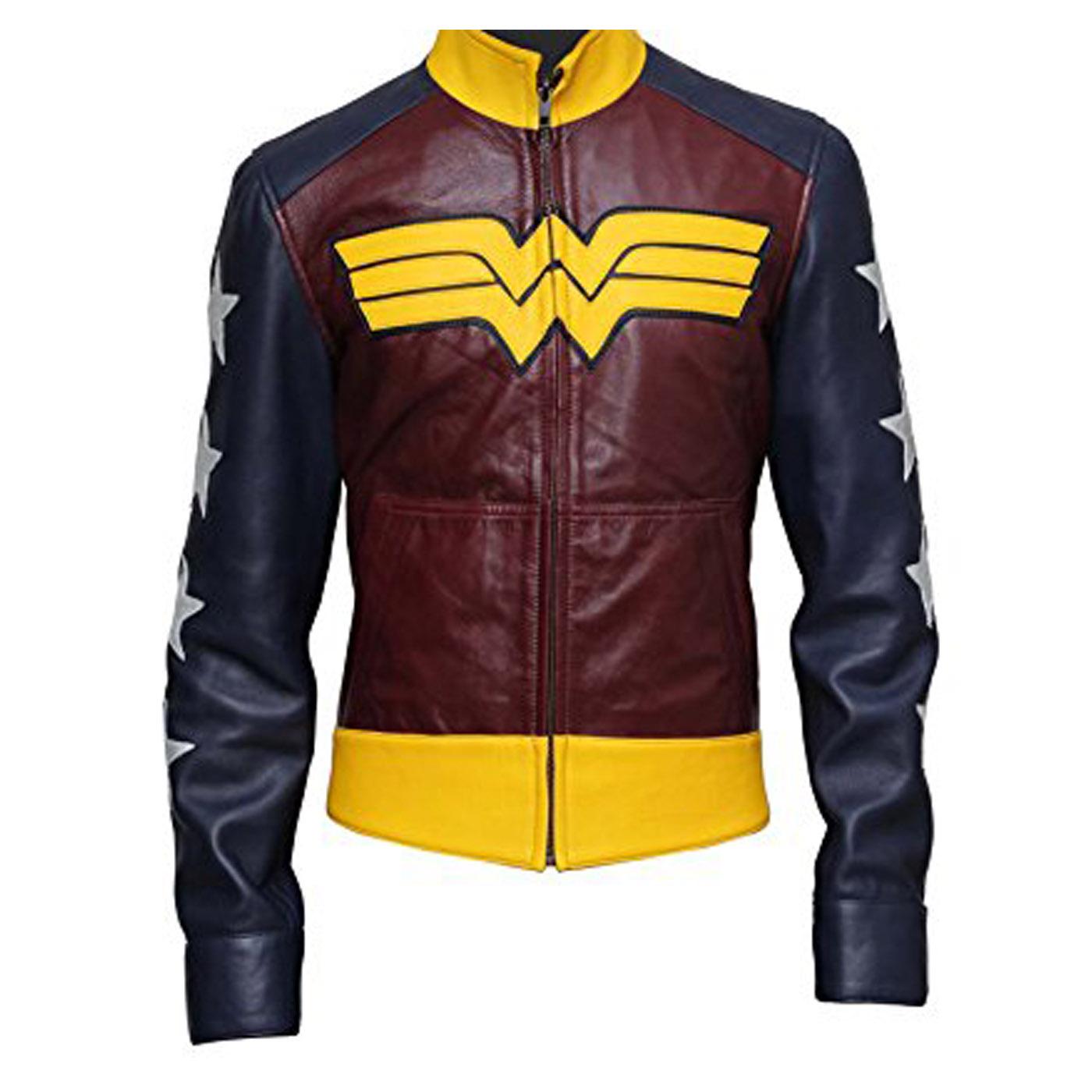 Wonder Woman Leather Jacket 3.
