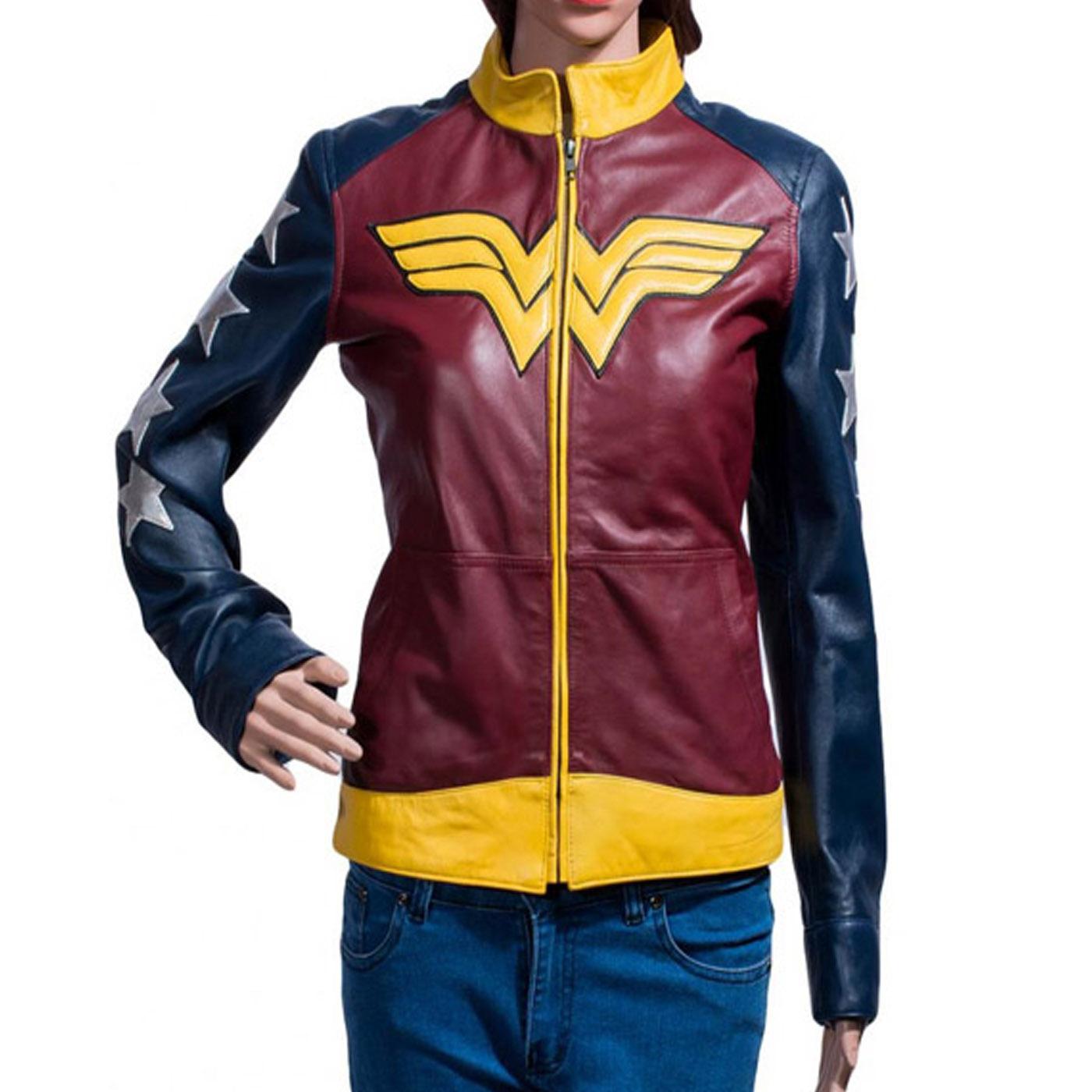 Wonder Woman Leather Jacket.