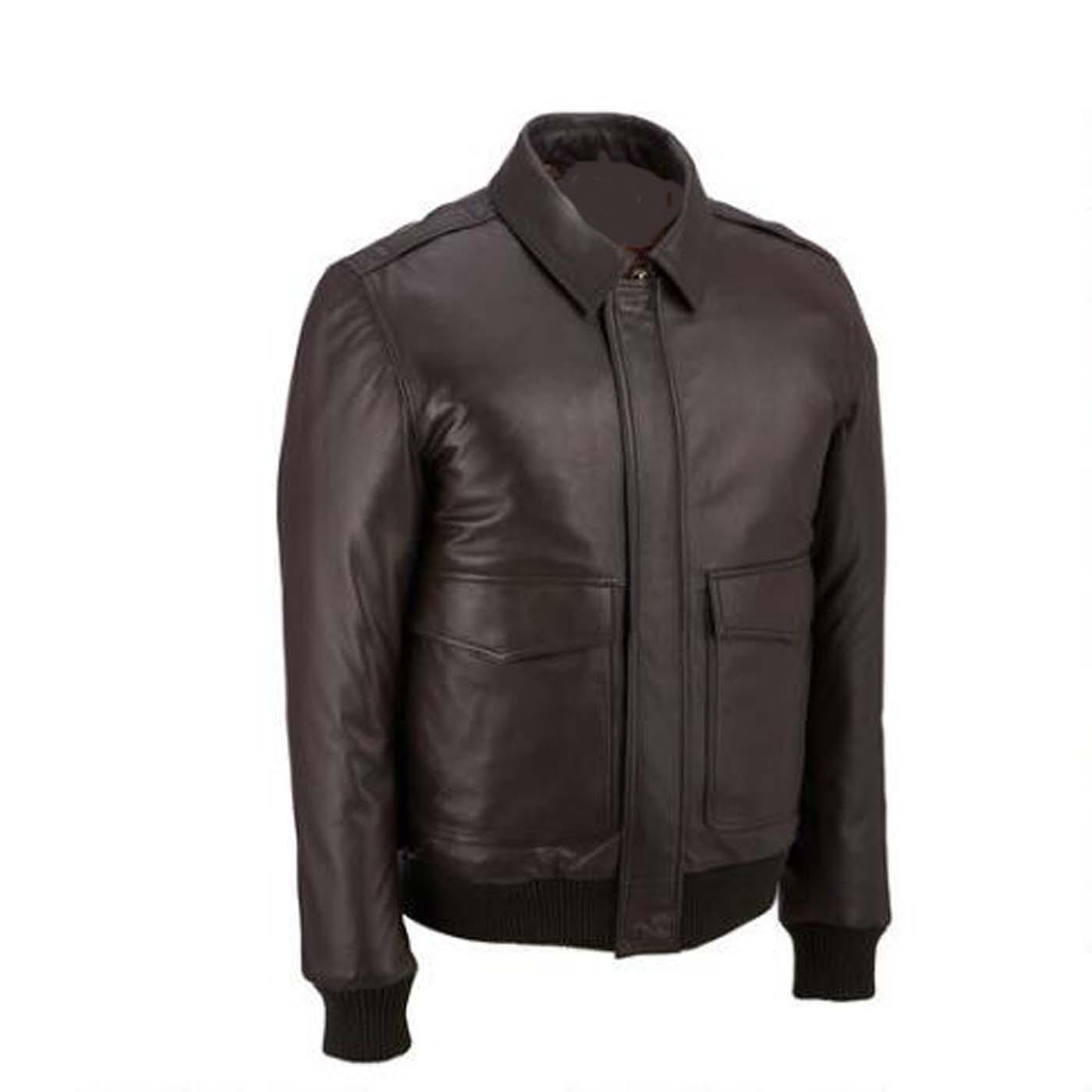 leather bomber lamb jacket 1