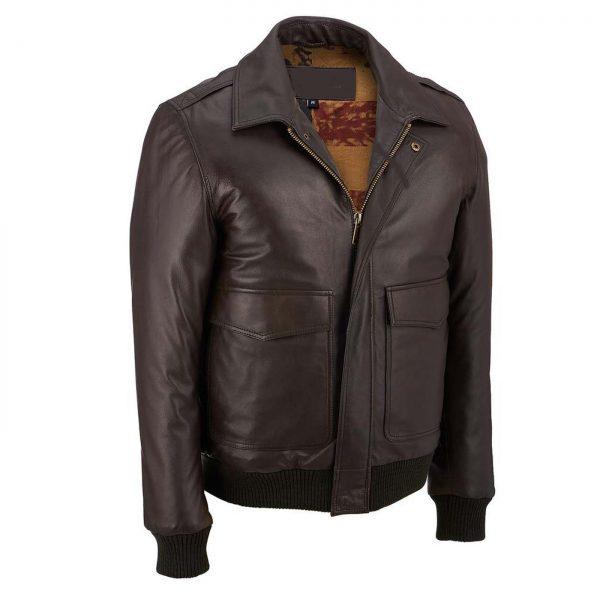 leather bomber lamb jacket 2