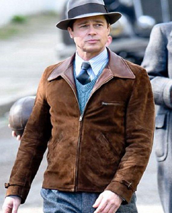 Allied-Brad-Pitt-Brown-Suede-Leather-Jacket-9-570×708