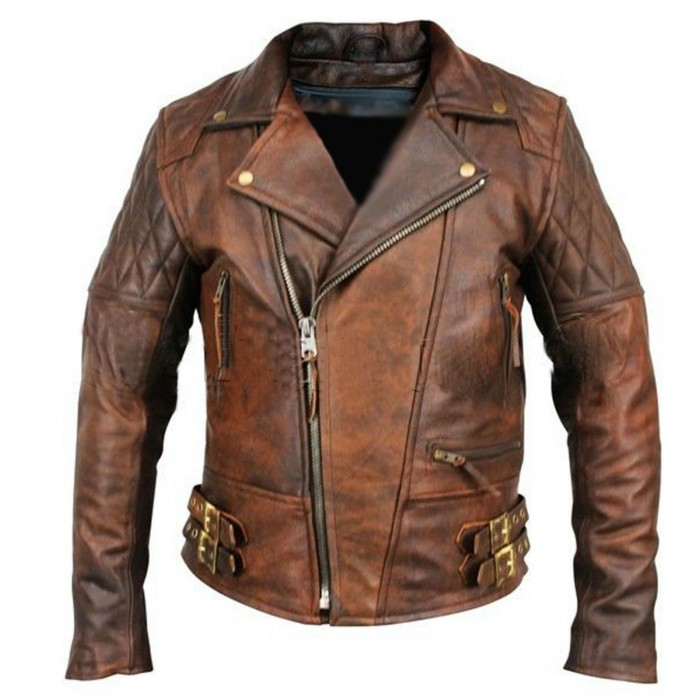 Biker Motorcycle Vintage Distressed Brown-700×700