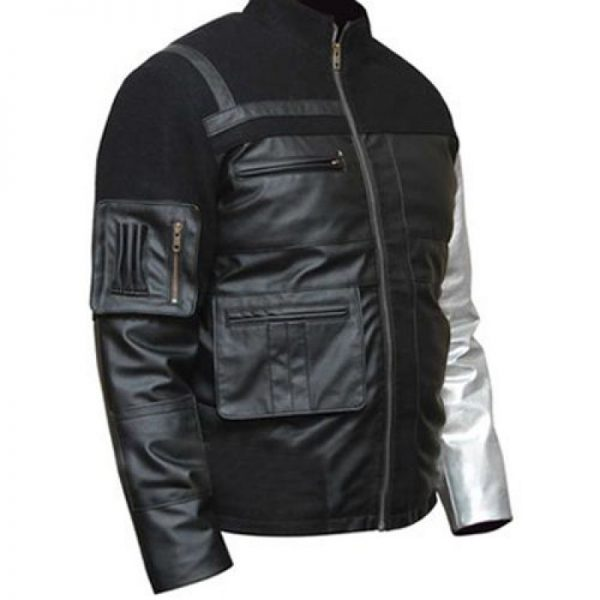 Bucky Barnes Winter Soldier Black Leather Jacket
