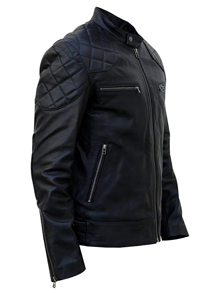 David Beckham pale leather jacket 1