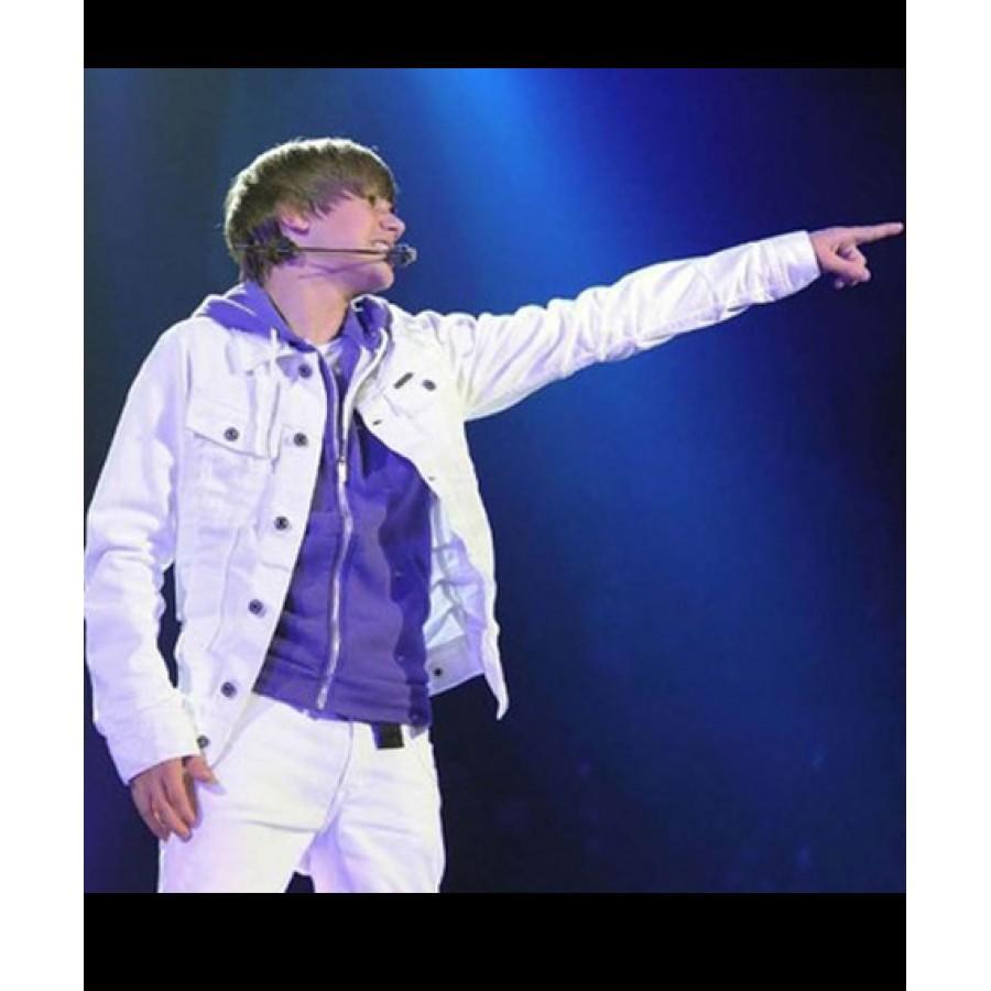 Justin Bieber White Jacket (6)