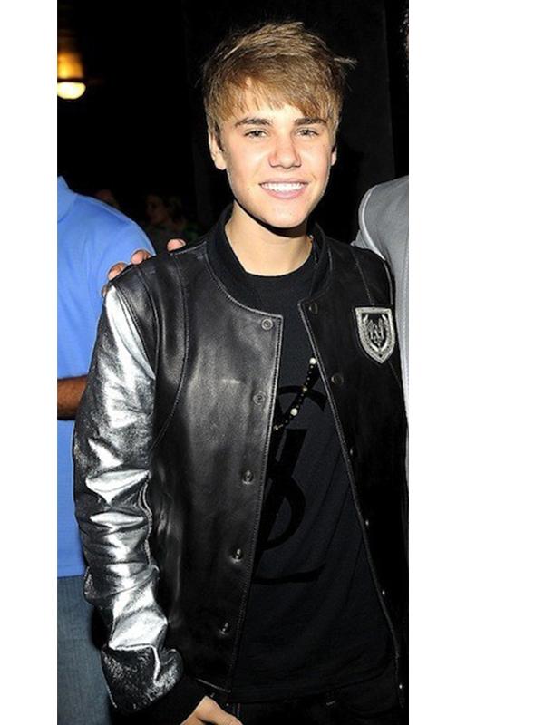 Singer Justin Bieber Balmain Silver Sleeve Jacket2