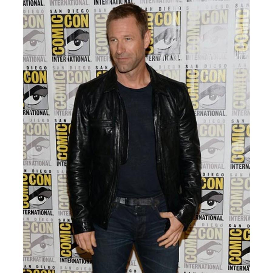 Aaron Eckhart Adam Frankenstein Leather Jacket (1)