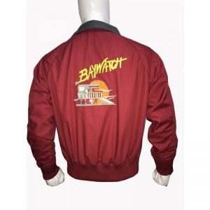 Baywatch David Hasselhoff Lifeguard Red Jacket