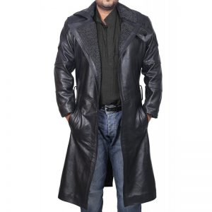 Blade Runner Black Leather Jacket Ryan Gosling Fur Coat (3)-800x800