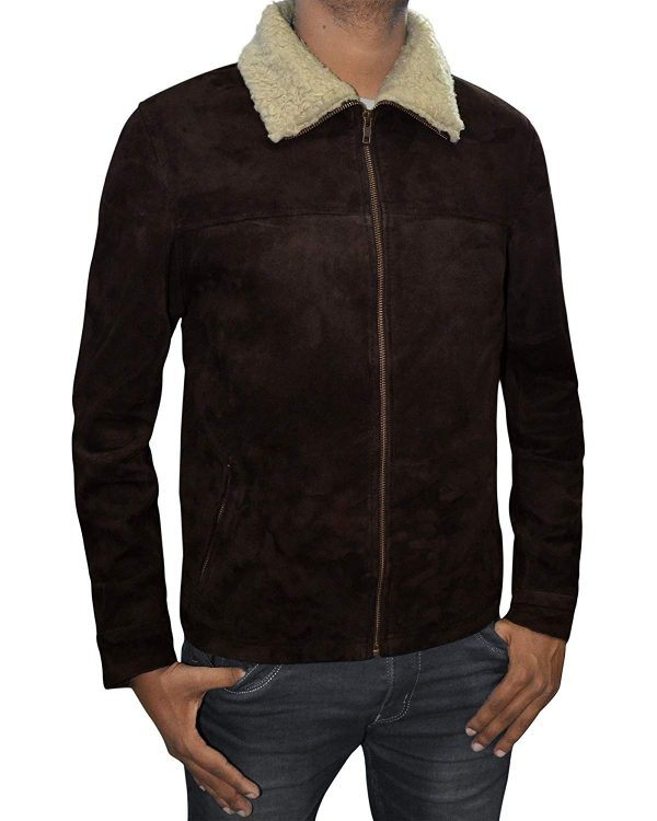The Walking Dead Rick Grimes Brown Suede Leather Jacket1