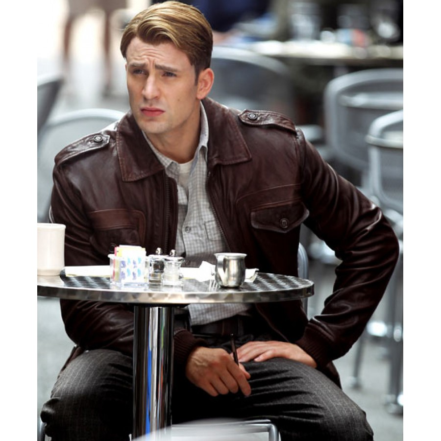 Avengers Steve Rogers Leather Jacket