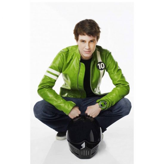 Ben 10 Alien Swarm Green Leather Jacket