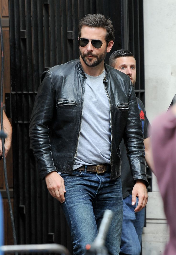 Bradley Cooper Burnt Leather Jacket For Usa Canada