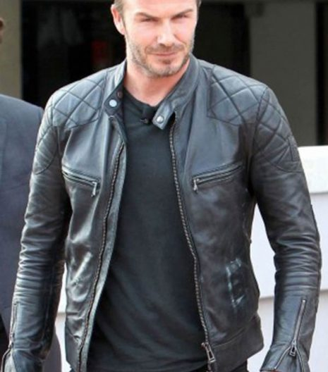 David Backham leather Jacket