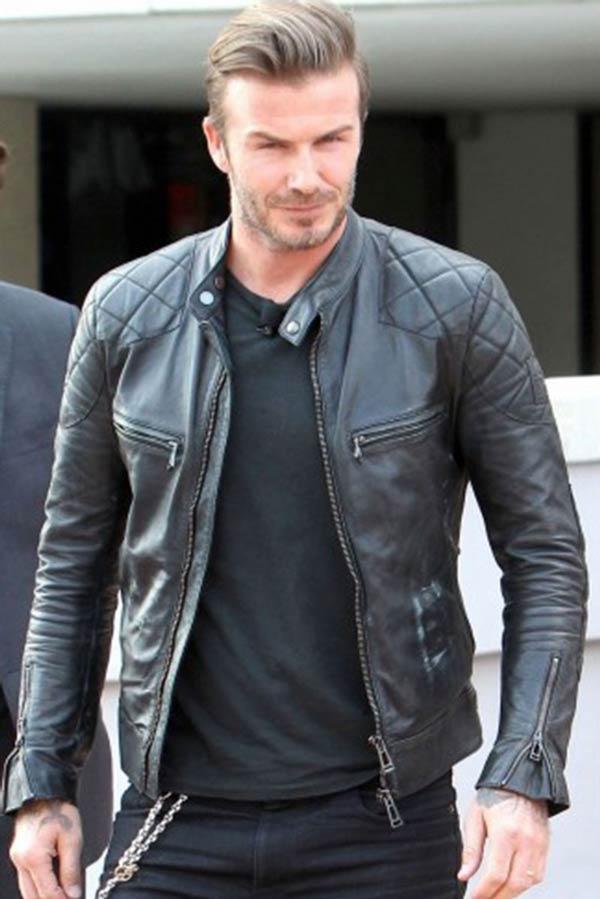 David Backham leather Jacket