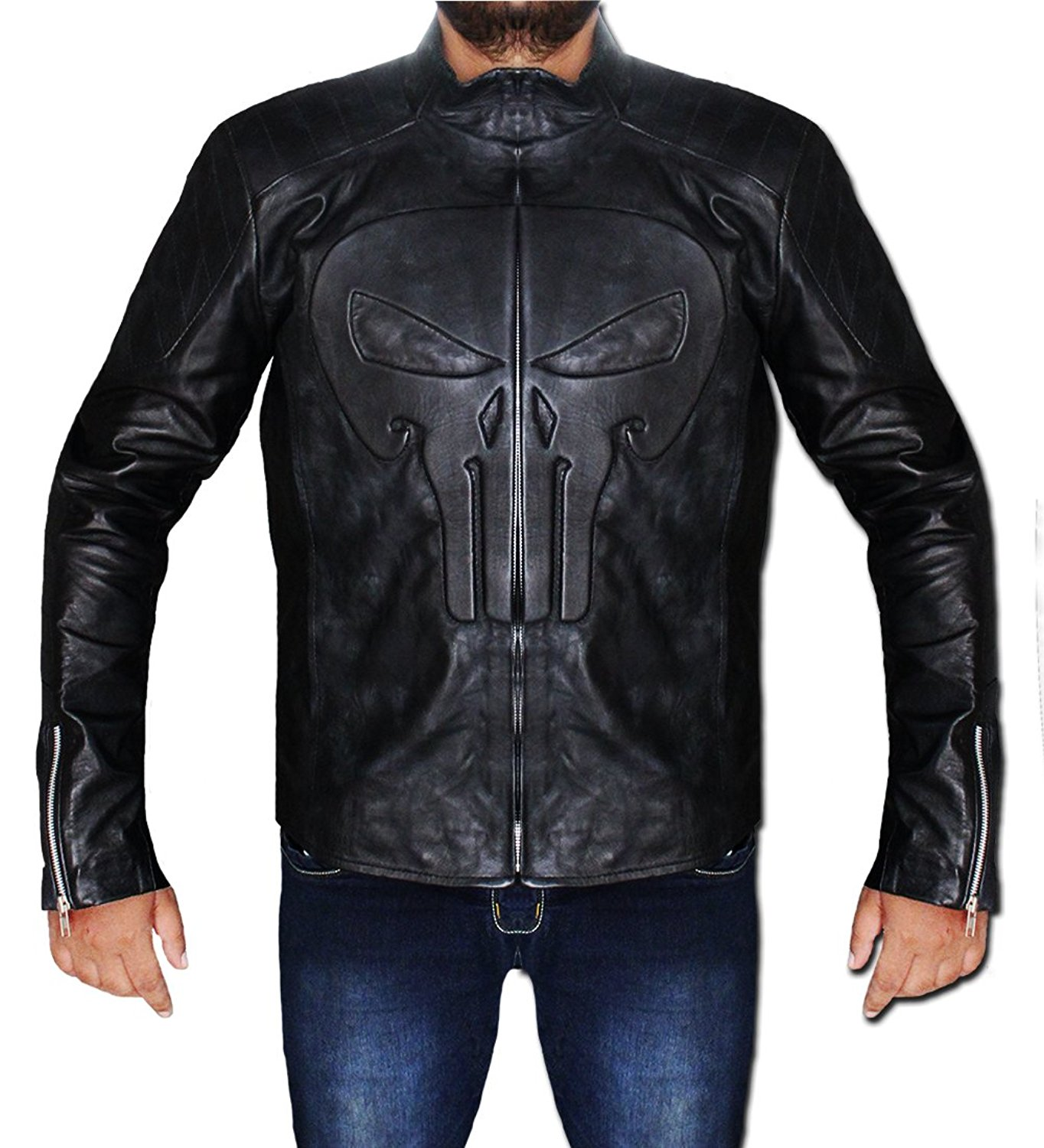 Men S Skull Frank Sheepskin Leather Jacket In Uk Usa