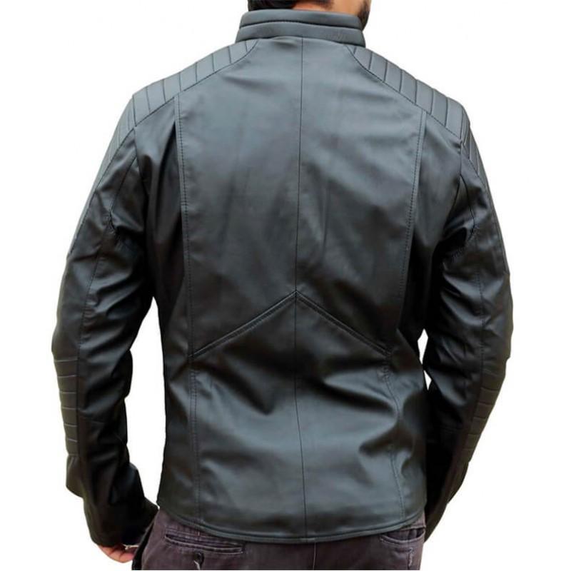Bat Logo Black Leather Jacket 1-800×800