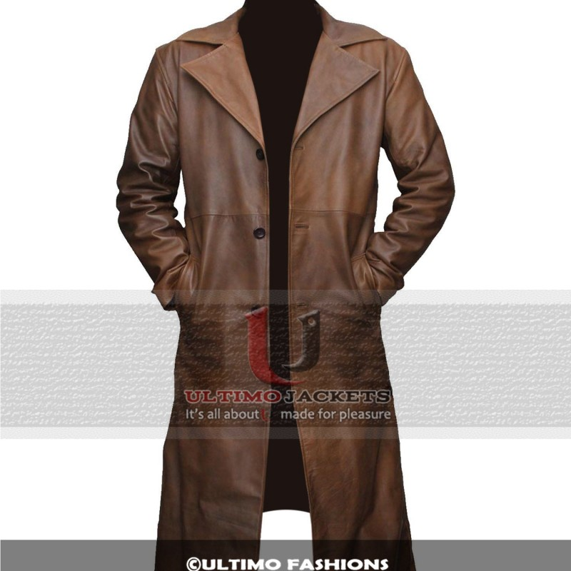 Batman Dawn of Justice Knightmare Brown Distressed Leather Stylish Trench Coat-800×800