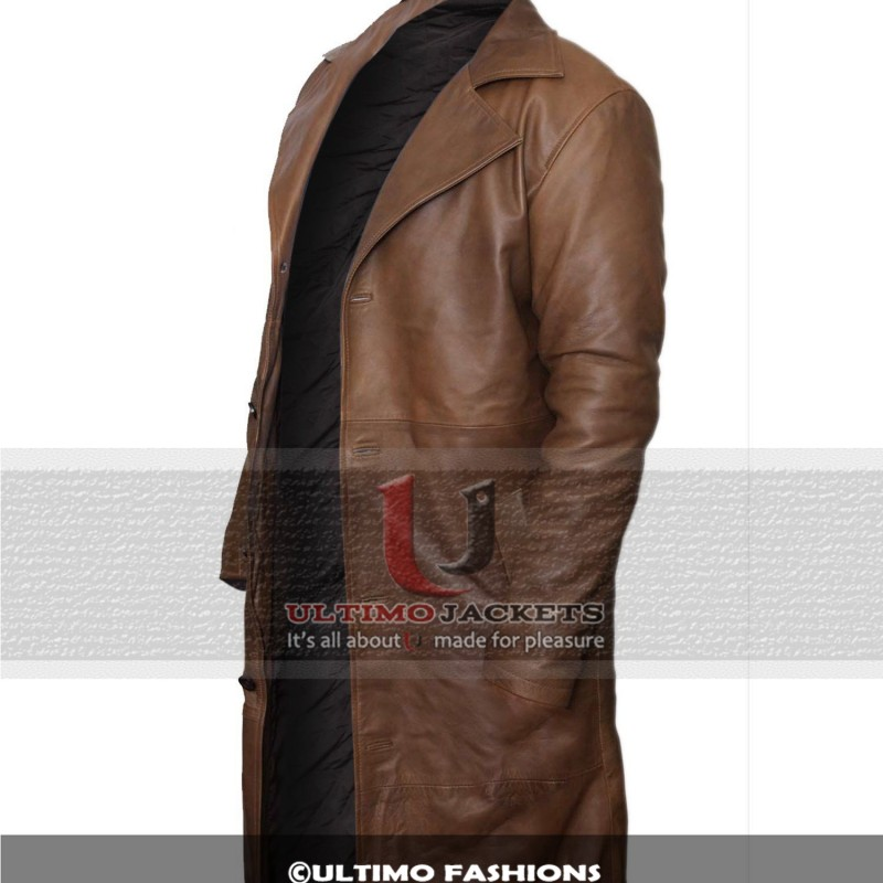 Batman Dawn of Justice Knightmare Brown Distressed Leather Stylish Trench Coat1-800×800