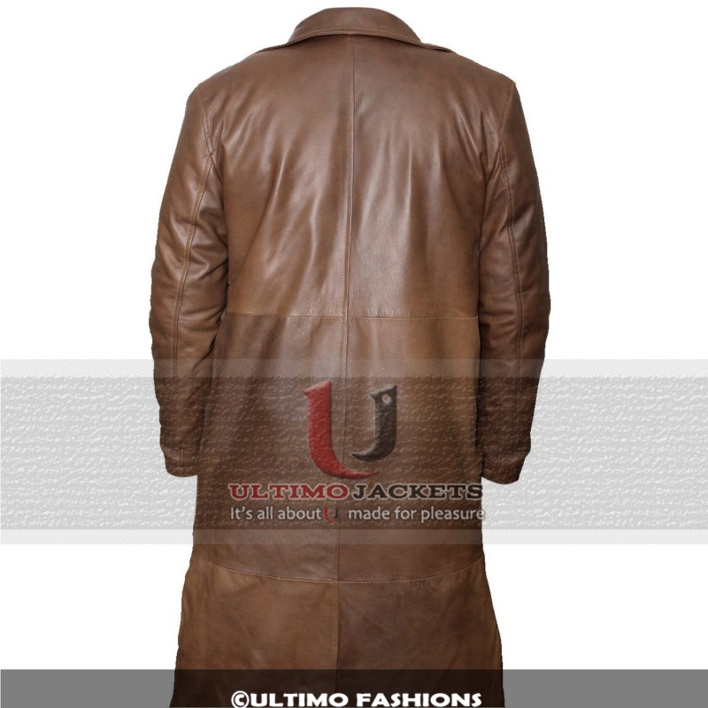 Batman Dawn of Justice Knightmare Brown Distressed Leather Stylish Trench Coat2-800×800
