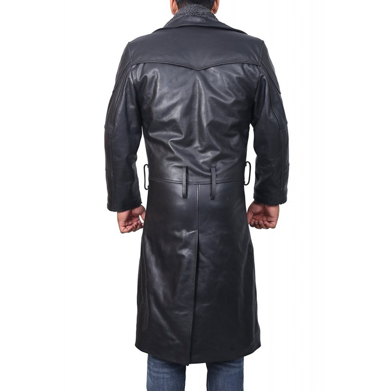 Blade Runner Black Leather Jacket Ryan Gosling Fur Coat (1)-800×800