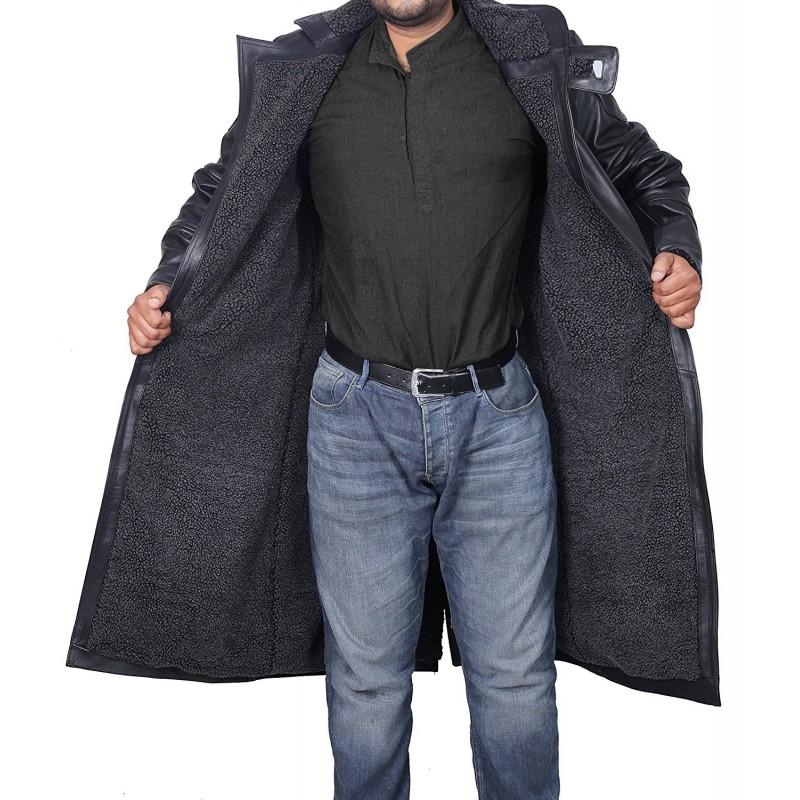 Blade Runner Black Leather Jacket Ryan Gosling Fur Coat (2)-800×800
