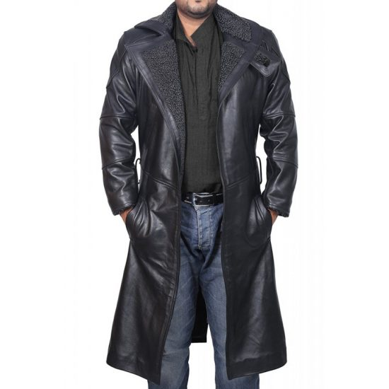 Blade Runner Black Leather Jacket Ryan Gosling Fur Coat (4)-800×800