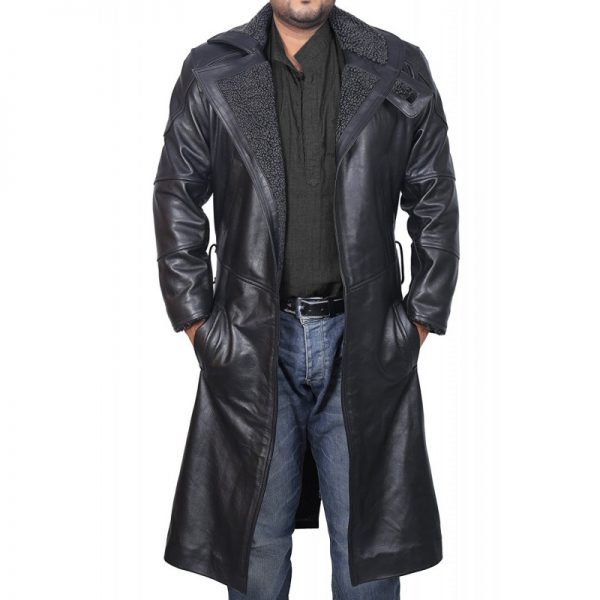Blade Runner Black Leather Jacket Ryan Gosling Fur Coat (4)-800×800