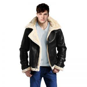 b3 bomber shearling jacket front-800x800