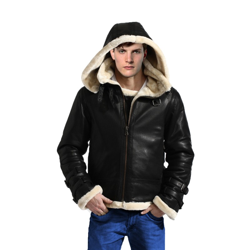 b3 bomber shearling jacket front cap-800×800