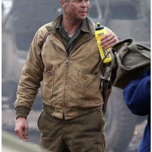 Brad Pitt Fury Jacket