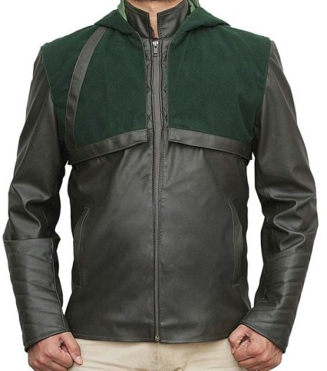 arrow green leather jackets