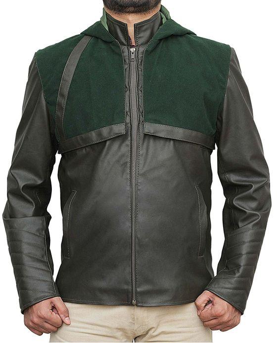 arrow green leather jackets