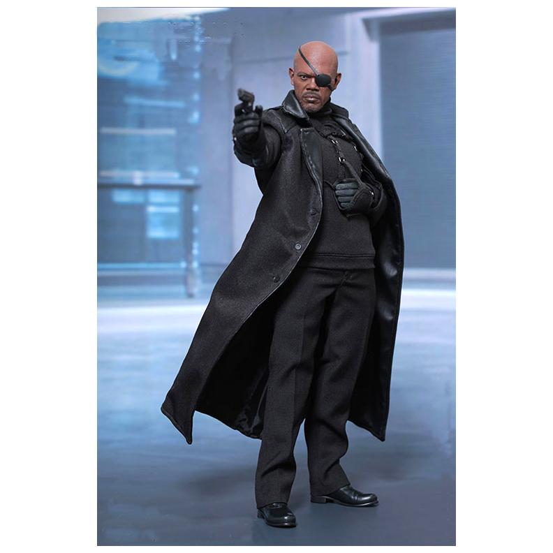 84a337551da Captain America The Winter Soldier Black Nick Fury Coat