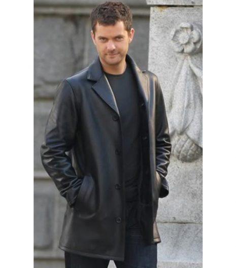 Peter Bishop leather coat