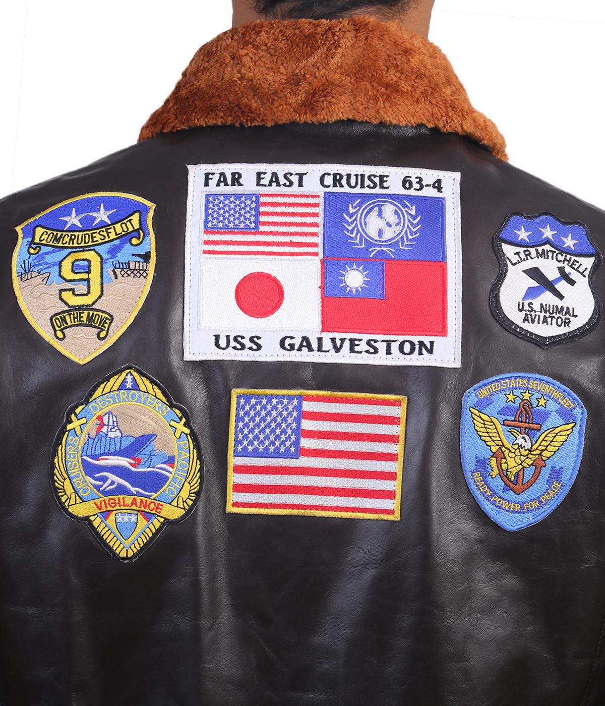 top gun leather jacket back back1